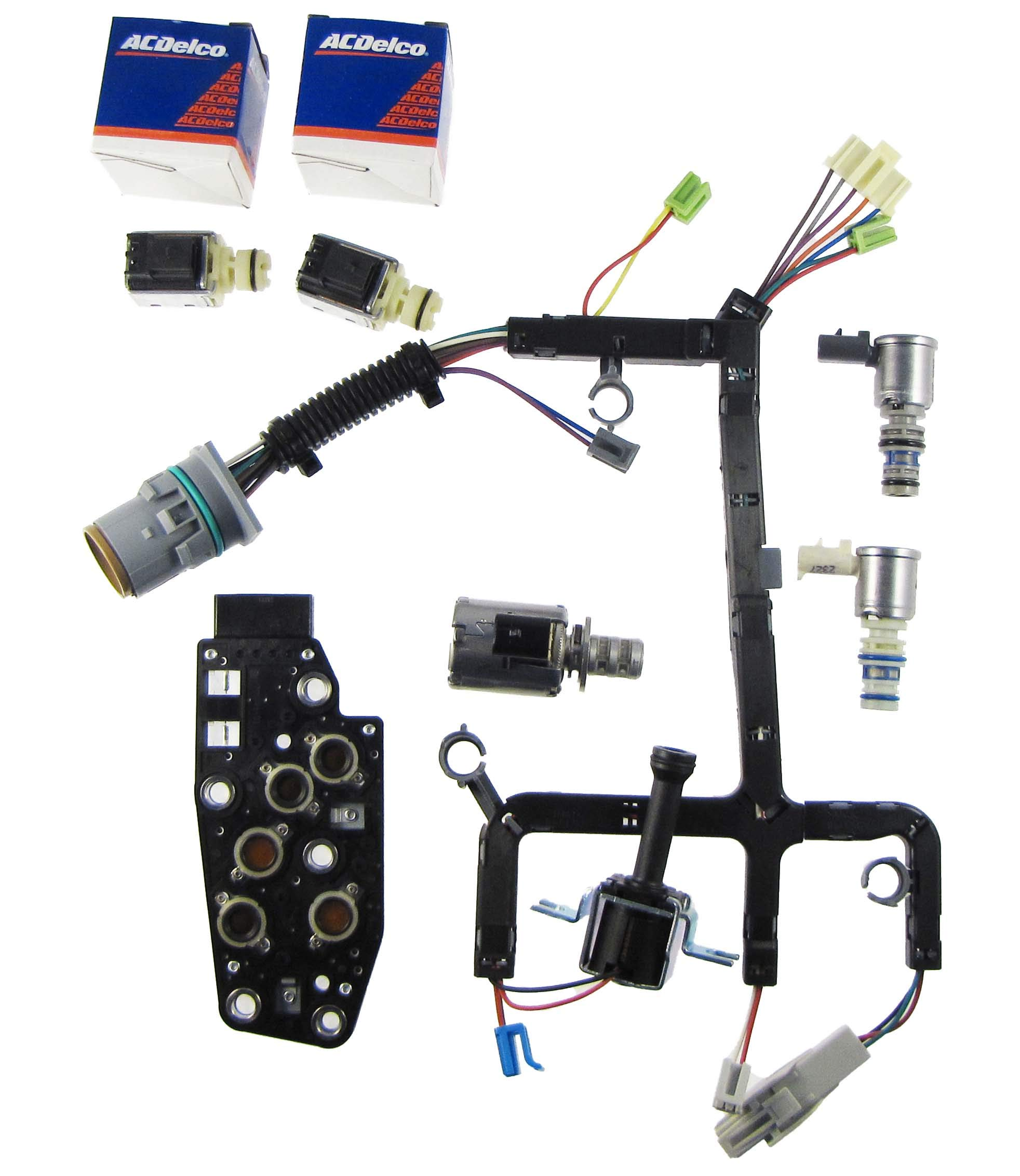 Transmission Parts Now 4L60E 4L65E Solenoid kit, Shift Solenoid, EPC, Wire Harness, TCC, 3-2