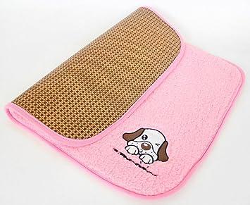 Juneping Doble Uso Estera para Dormir de refrigeración para Mascotas 2 en 1 Estera para Mascotas