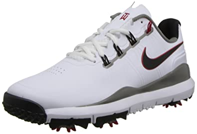 NIKE Golf Men's NIKE TW '14 Golf Shoe, White/Metallic Pewter/Varsity