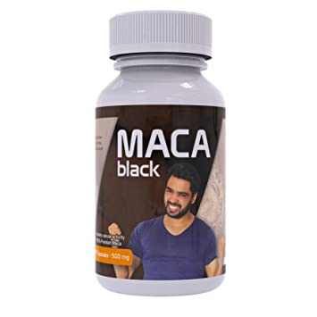 Black Maca Capsules for Men - Gelatinized - Supplements for Energy,  Vitality, Endurance, Memory and