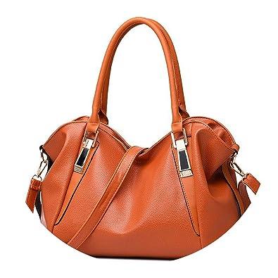 451834d507f Image Unavailable. Image not available for. Color: Women Handbag Female PU  Leather Bags Handbags Ladies Portable Shoulder Bag Office Ladies Hobos Bag  Totes