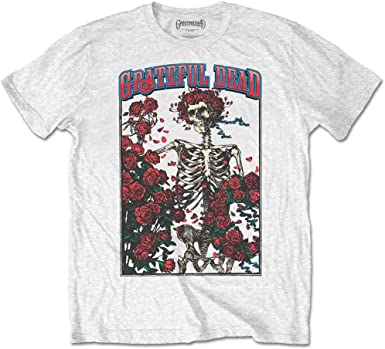Rock Off White The Grateful Dead Bertha Logo Oficial Camiseta para Hombre: Amazon.es: Ropa y accesorios