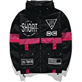 WEIPENG AITFINEISM Men's Fashion Lightweight Hoodie Zip-up Letter Windbreaker Jacket