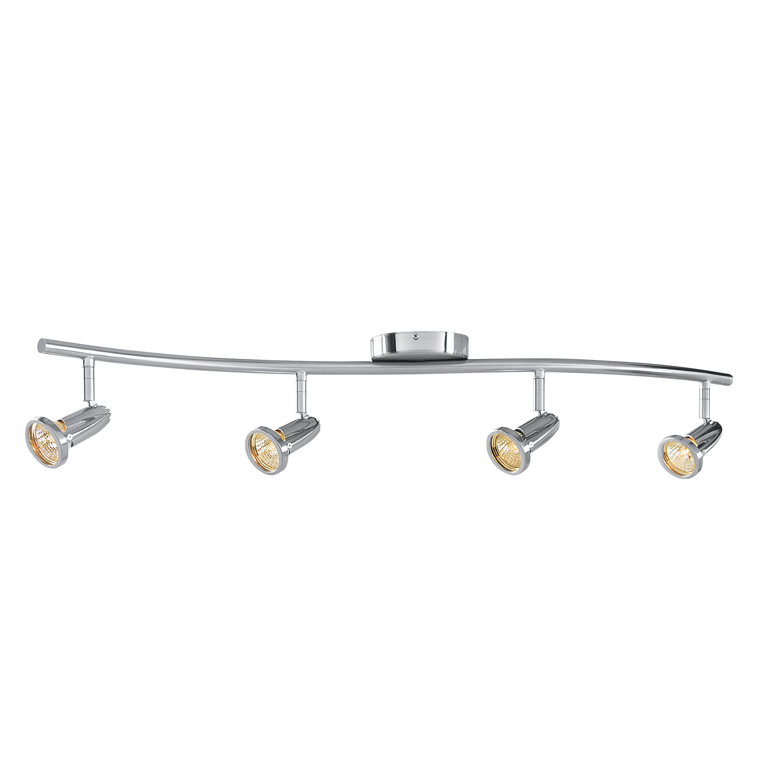 Cobra - LED Wall/Ceiling Semi-Flush Spotlight Bar - 4-Light - Brushed Steel Finish