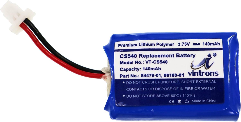Amazon Com Plantronics Cs540 C054 Replacement Battery Vintrons 86180 01 84479 01 Battery For Plantronics Cs540 C054 Wireless Headset