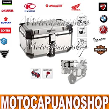a5bdf576b8d Baúl Maleta Top Case Monokey Trekker Outback aluminio 58 LT GIVI obk58 a:  Amazon.es: Coche y moto