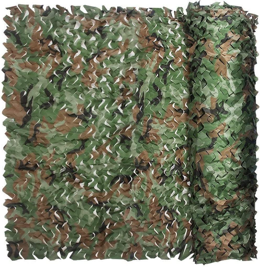 Teez Snare nOutdoor Shade Jungle Camouflage Net Military Activity Sunshade Home Decoration Paintball Shooting Game Bird Watching Camping Car Coverage Boys Hobby Urban Garden Camo Netting