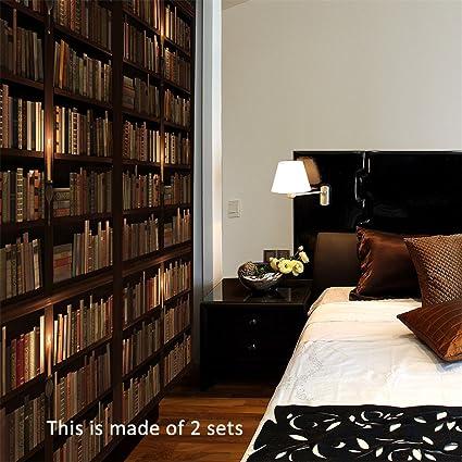 Amazon Com Amazingwall 77x200cm 30 3x78 7 3d Book Shelf Door