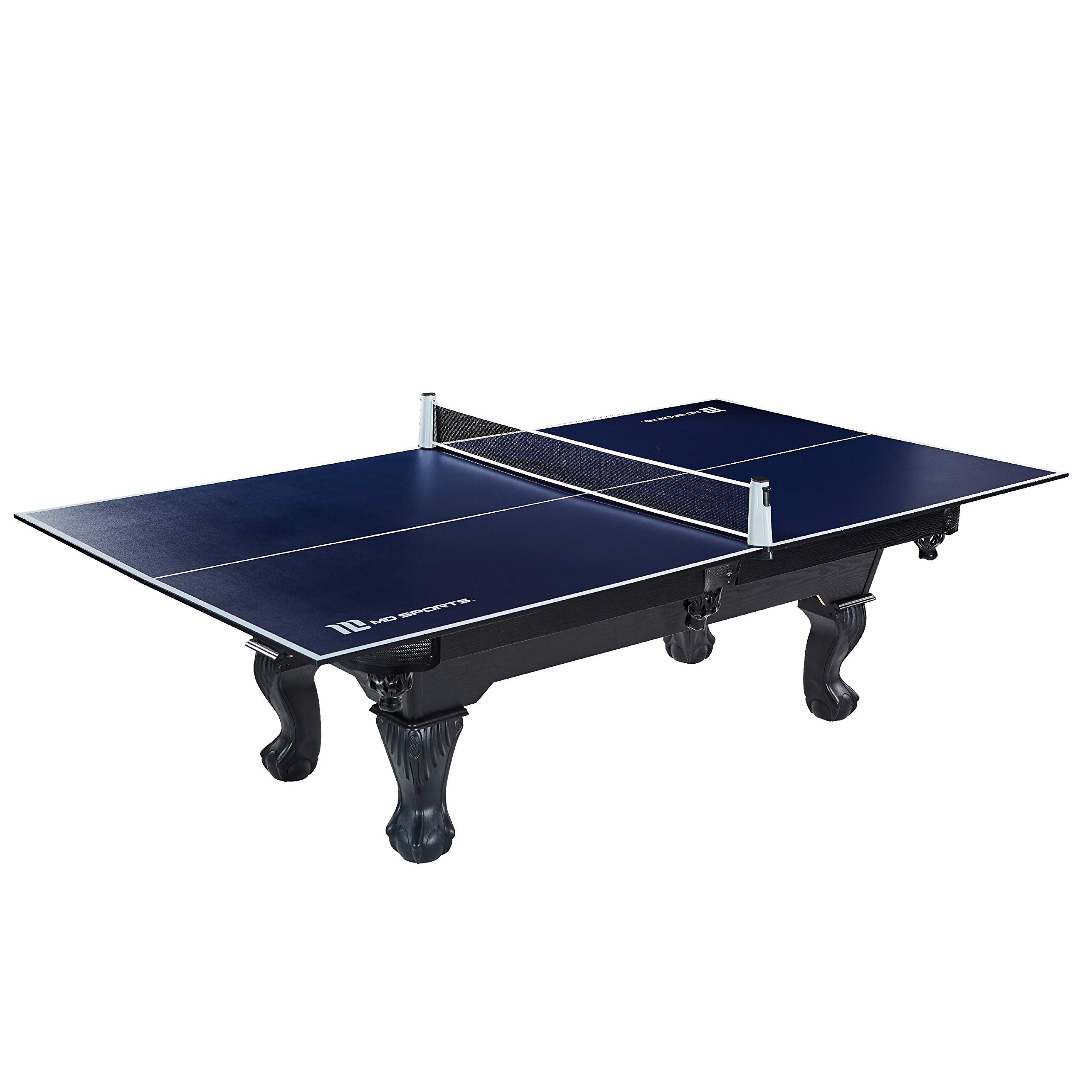 Ping Pong and Table Tennis Conversion Tops, Regulation Size - Folding, Portable Tennis Top with Net - Fits Most Standard Air Hockey and Pool Tables - Premium, Fun, Easy Setup Game Equipment by MD Sports