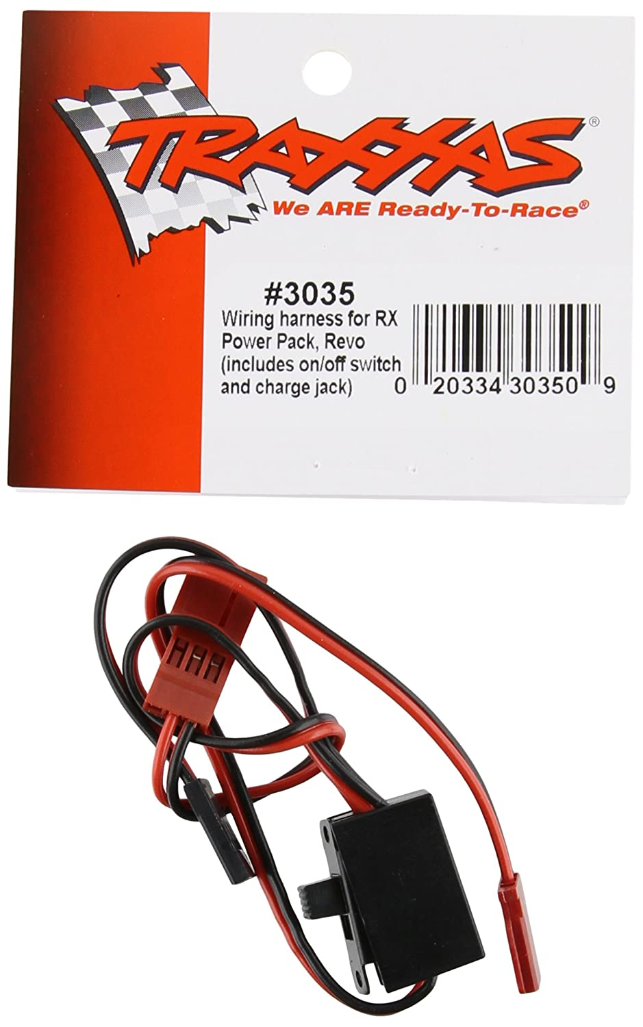 71uhbQCErNL._SL1500_ amazon com traxxas 3035 wiring harness for rx power pack, revo traxxas wiring harness at gsmx.co