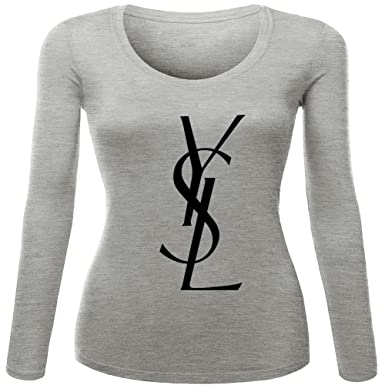 4c047afc YSL Yves Saint Laurent For Womens Printed Long Sleeve t shirts ...