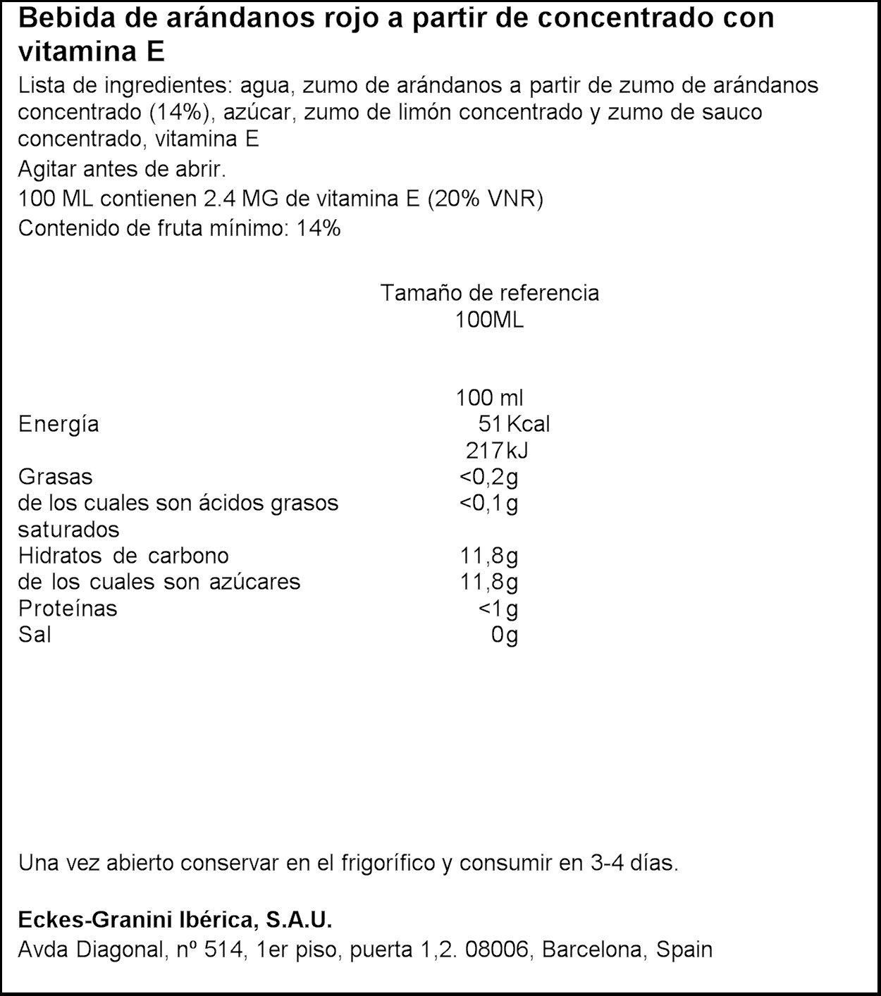 Granini - Arándano rojo - Zumo de frutas 1000 ml - Pack de 6 (Total 6000 ml): Amazon.es: Alimentación y bebidas