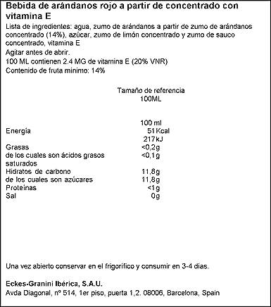 Granini - Arándano rojo - Zumo de frutas - 1 L