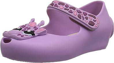 Mini Melissa Baby girl Shoes 6 Mary Janes Purple Toddler Childrens Giraffe Child