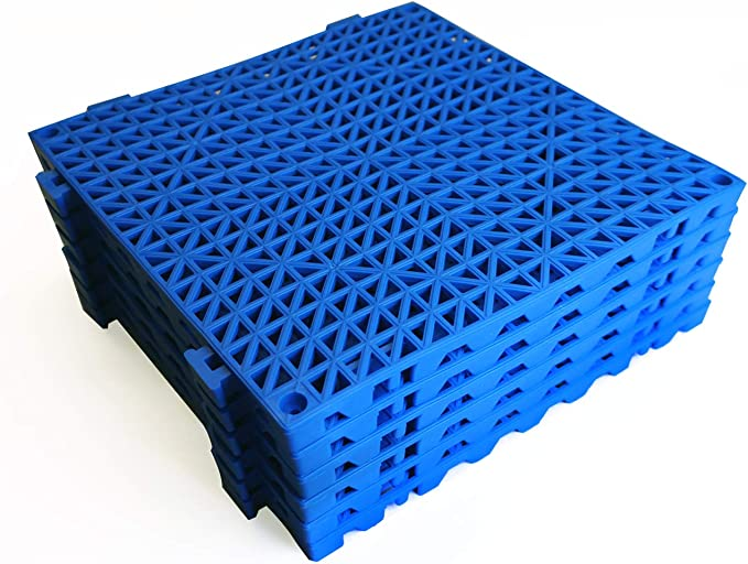 Red 4pcs Modular Interlocking Cushion 11.5 x 11.5 Floor Tile Mat Mats Drain Pool Shower Home Indoor//Outdoor