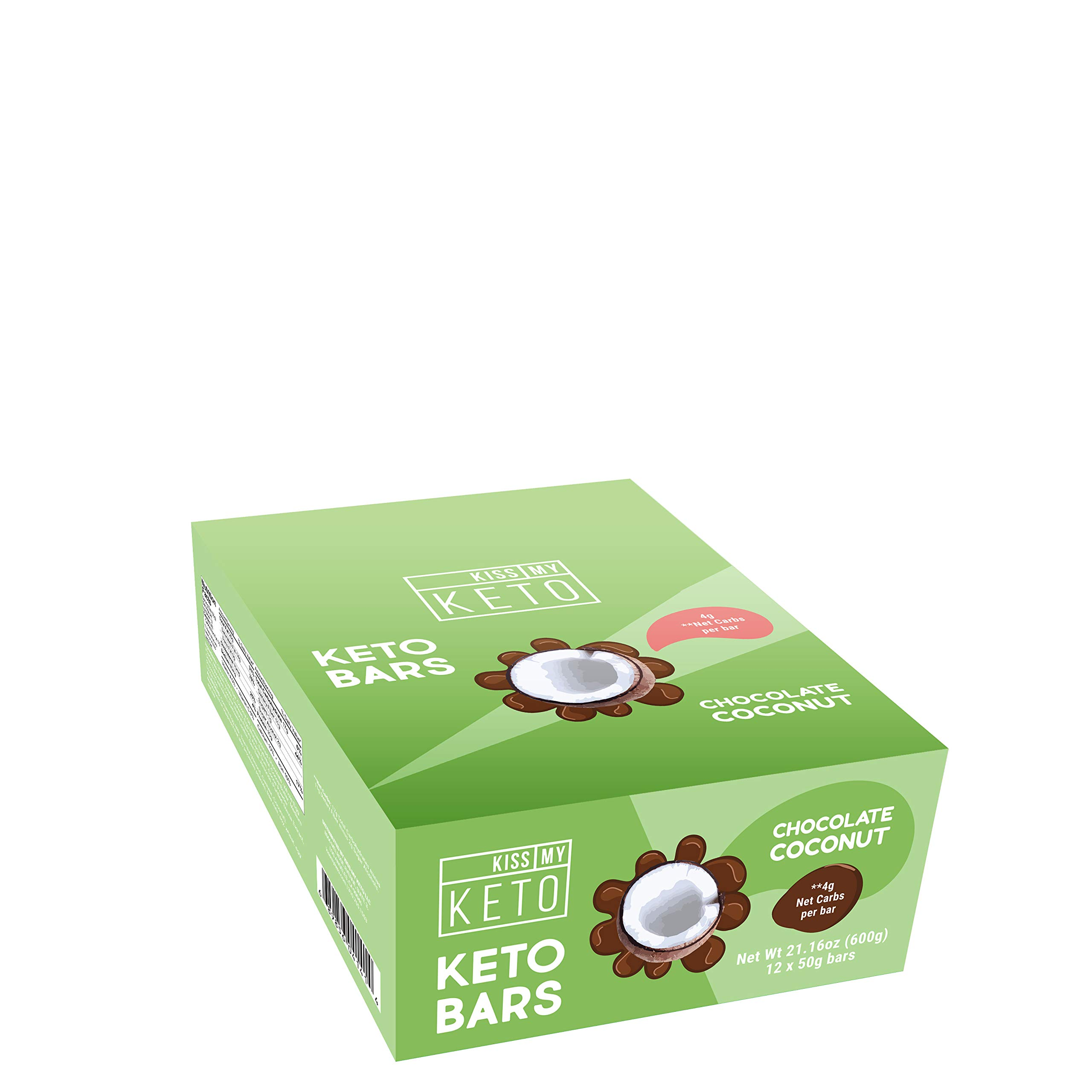 Kiss My Keto Snacks Keto Bars - Keto Chocolate Coconut (3 Pack, 36 Bars), Nutritional Keto Food Bars, Paleo, Low Carb/Glycemic Keto Friendly Foods, All Natural On-The-Go Snacks, 4g Net Carbs by Kiss My Keto (Image #3)