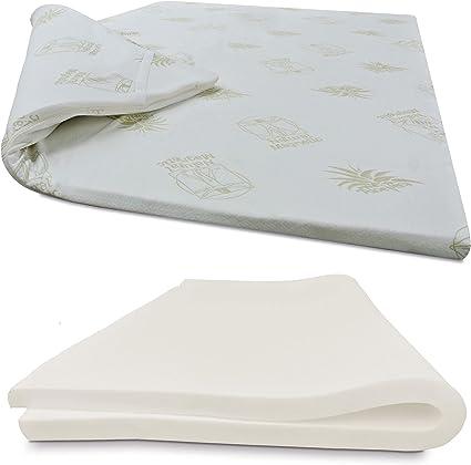 Poliestere Bianco 180/x 90 Imperial Confort Topper viscoesl/ástico spessore 5 cm Singolo