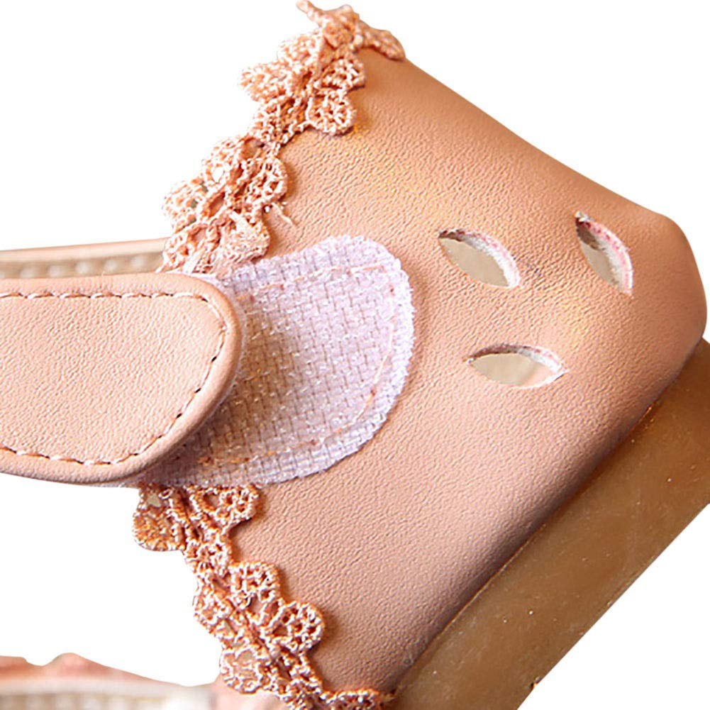 Weixinbuy Little Kid Toddler Baby Girls Bowknot Solid Anti-Slip Closed-Toe Summer Sandals Shoes Flats