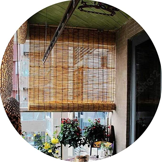 Rideaux De S/éparation Rideaux en Bambou LHJJ Rideaux en Roseau Rideaux Ext/érieurs Relevables Rideaux De Cuisine