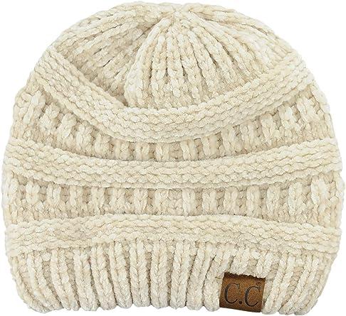 Unisex Knit Hat White Sticker Alaska Font Print Hats Soft Stretch Beanies