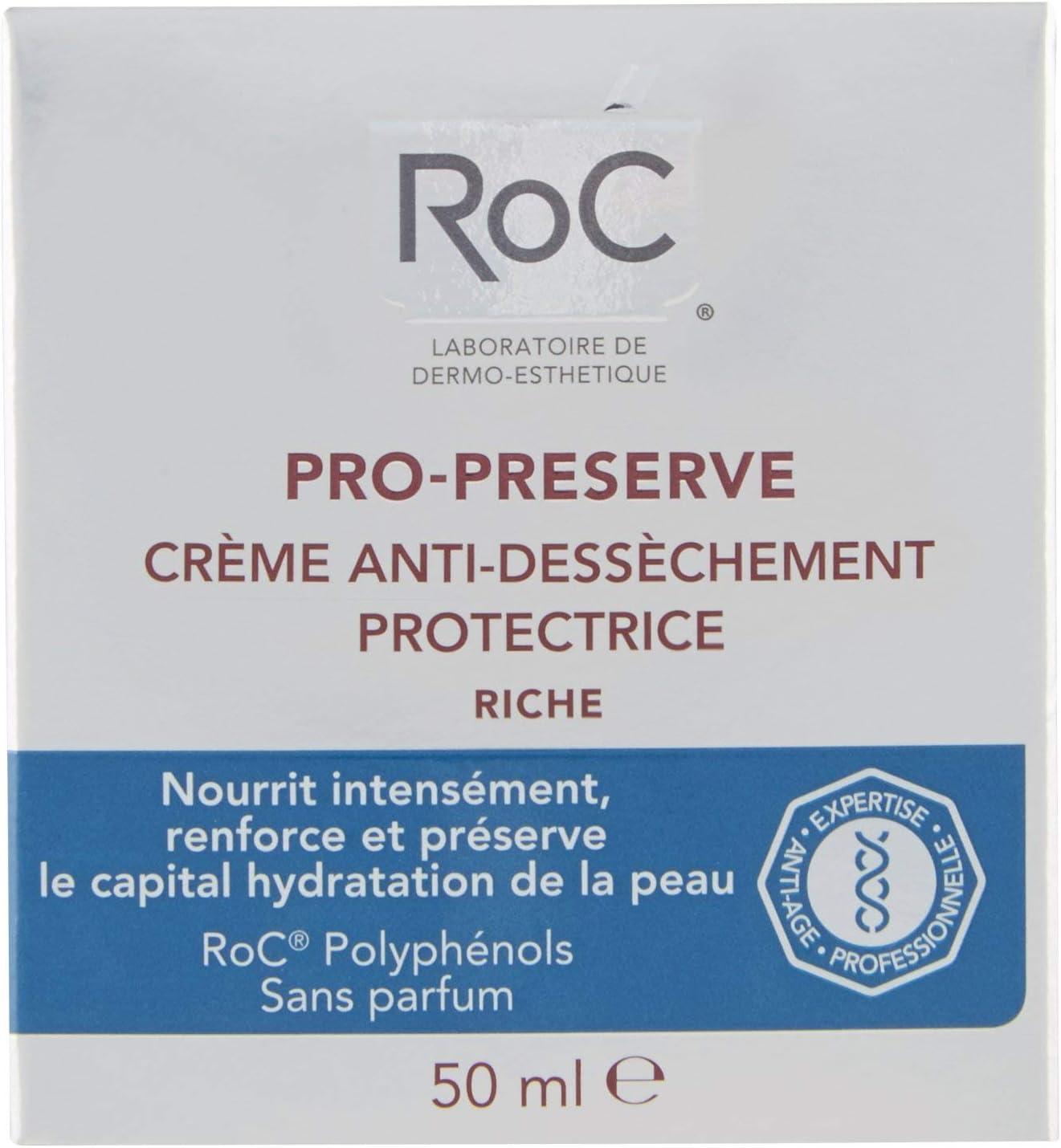 ROC Pro Preserve - Crema Protectora, Anti Sequedad, Textura Rica, 50 ml