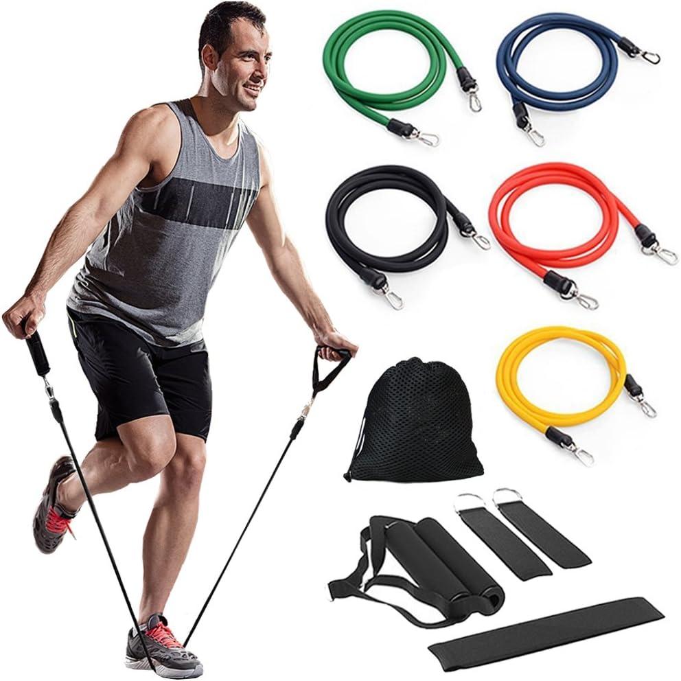 Tragetasche Home Gyms Workout Griffe Fu/ßschlaufen Unihoh Resistance Bands 11 Pack Widerstandsb/änder Set Sports Fitnessband mit Expander f/ür Krafttraining Kraft-bis zu 150 Pfund T/üranker