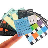 Chris.W 2019 Calendar Stickers for Planners, Notebooks, Journals, 2019-2020 Planners Monthly Index Tabs, 16-Month(2019 .1-2020. 4), 4 Sets in Multi Color(64 Tabs)