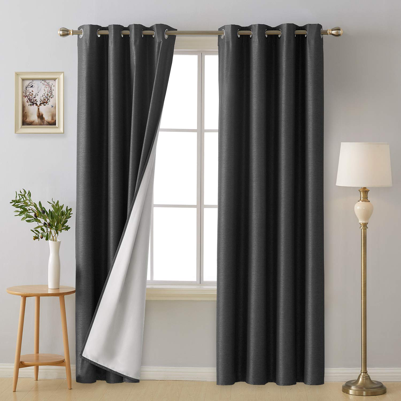 Amazoncom Deconovo Grommet Top Blackout Curtain Panels Thermal
