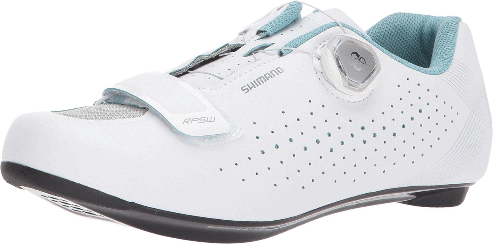 SHIMANO Women's RP501W Performance Cycling Shoe (White- 43) by SHIMANO