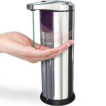 Dispensador De Jabon Liquido Con Sensor Automatico - De Acero Inoxidable - Para Baño Y Cocina