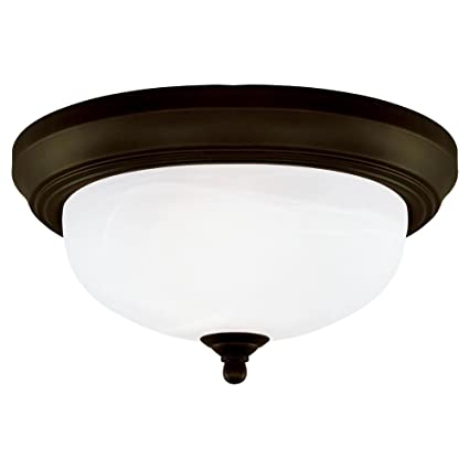 72008bf7656 Amazon.com  Westinghouse 64291 13-Inch Two-Light Flush Mount Fixture ...