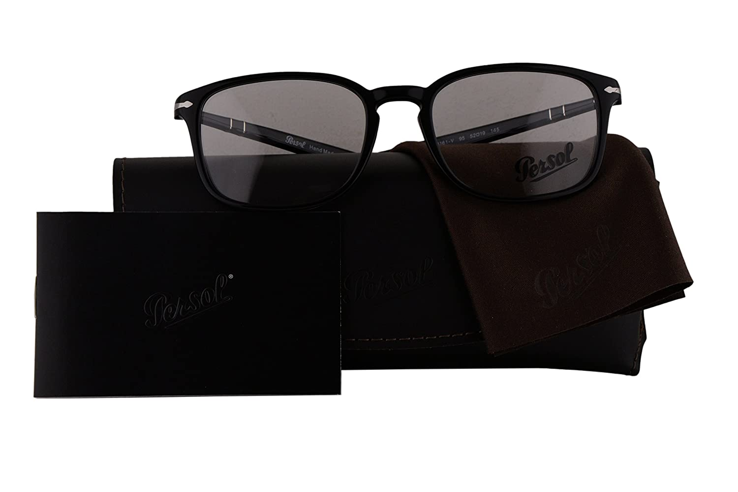 f798f7209ed Persol Authentic Eyeglasses PO3161V Shiny Black w Clear Demo Lens 95 PO 3161 -V (52mm)  Amazon.co.uk  Clothing