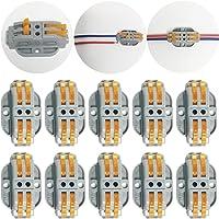 CTRICALVER 10 pcs SPL-2 Conectores eléctricos rapidos,Terminales Eléctricos, Abrazaderas con palanca conexión eléctrica…