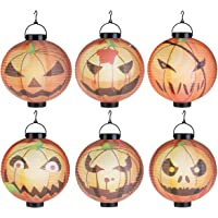 6-Pack LEDMOMO Halloween Pumpkin Lanterns