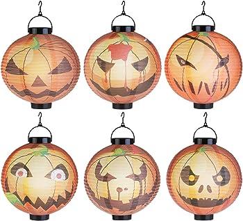 6Pk. LEDMOMO Halloween Pumpkin Lanterns