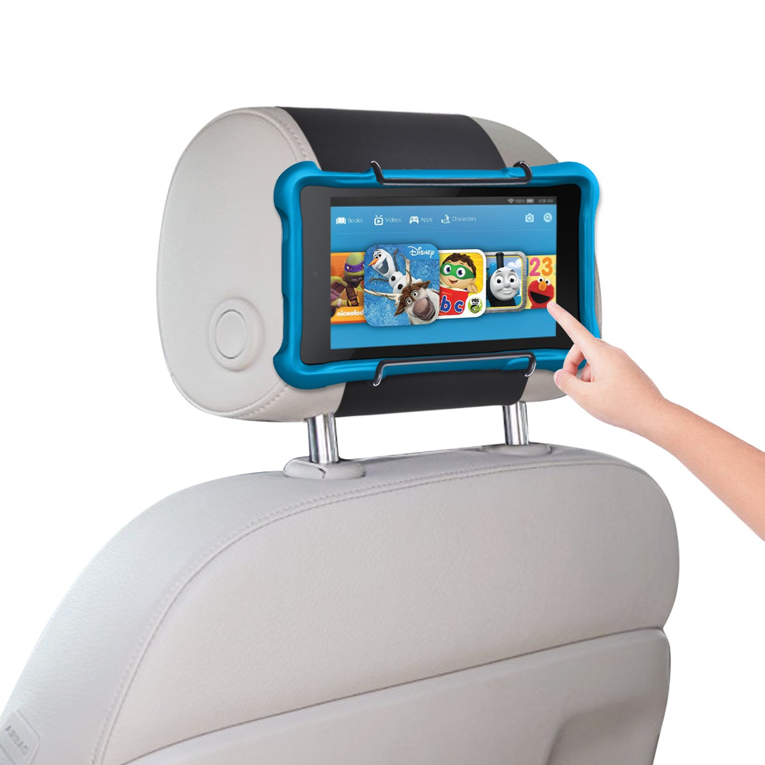 Car Headrest Holder WANPOOL Car Headrest Mount for Kindle Fire Tablet 7''/Fire HD 8/Fire HD 10/Kindle Fire HD 7'' and Other Tablets, Black