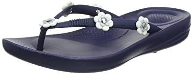 Fitflop »LULU LEATHER« Zehentrenner, blau, navy