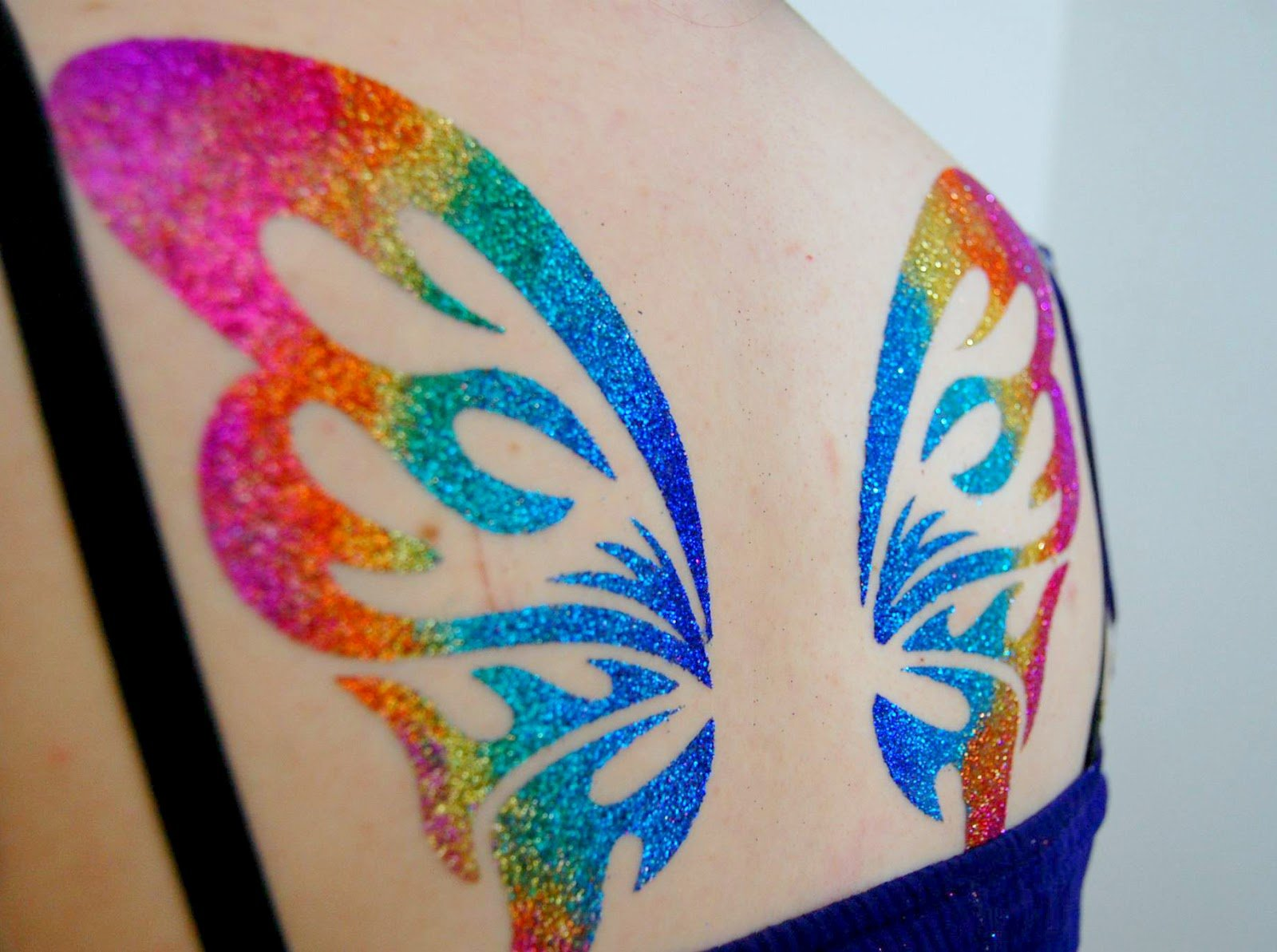 TEMPORARY BODY TATTOO set of 6 designs dolphins designs GLITTER TATTOO airbrush facepaint by BHD Vinyls (Image #1)