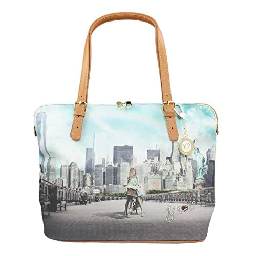 BORSA DONNA Y NOT  SHOPPING M TRASFORMABILE BIG APPLE YES BAG J-377  Amazon. it  Scarpe e borse df540cb04c3