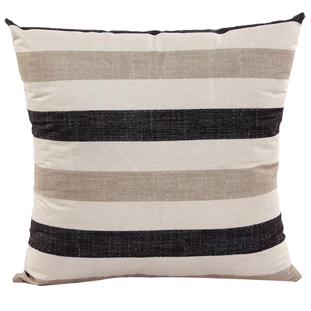 Throw Pillow Cases, E-Scenery Clearance Sale! Stripe Square Decorative Throw Pillow Covers Cushion Cases for Sofa Bedroom Car Home Decor, 18 x 18 Inch (Khaki)