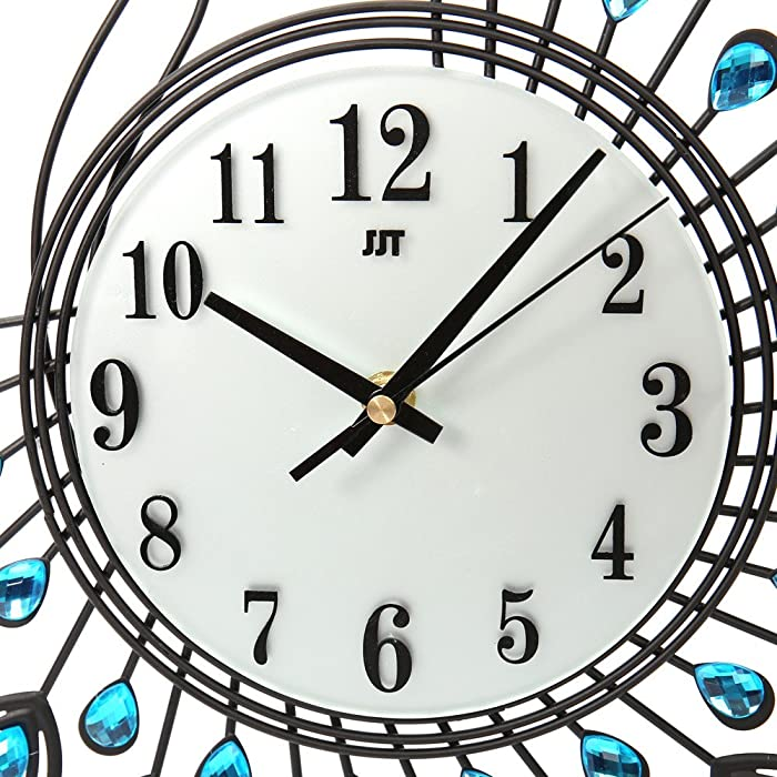 Amazon com: Vintage Style Peacock Antique Wall Clock for
