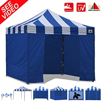 AbcCanopy Carnival Canopy 10x10 Heavy Duty Pop Up Canopy Tent With Walls For Outdoor Event Bouns