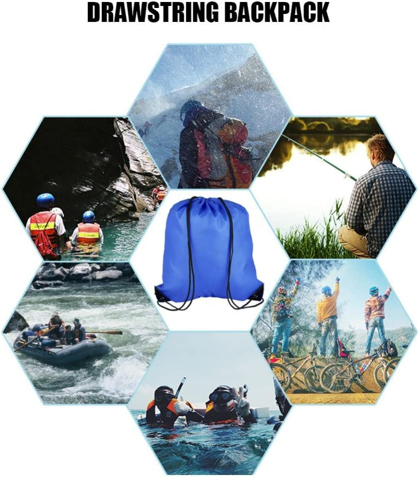 GLOGLOW Sac /à Dos imperm/éable /à leau avec Cordon de Serrage Sac de Rangement pour Sports de Plein air pour Hommes et Femmes