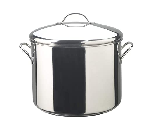 Classic Stainless Steel 16-Quart Covered Stockpot By Faberware
