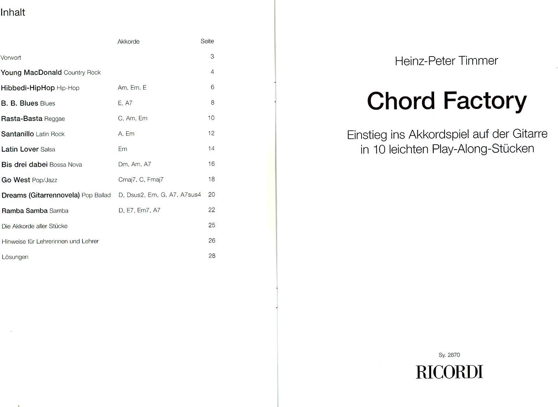 Chord Factory – Introducción en el acorde parte en la guitarra en ...