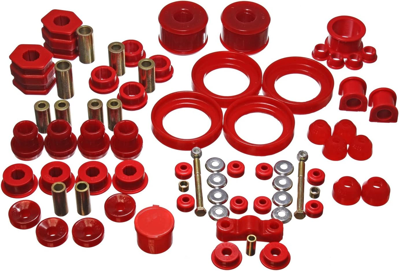 Energy Suspension 4.4120R Energy Suspension Body Mount Set Red Fits:FORD 2005