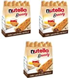 "Ferrero: ""Nutella B-ready "" a crisp wafer of bread in the form of mini - baguette stuffed with a creamy Nutella * 8 pieces * 5.39 oz (153g) * Pack of 3 [ Italian Import ]"