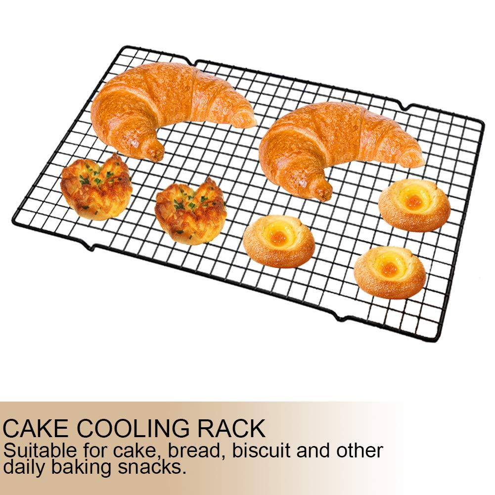 rejilla de refrigeraci/ón y asado accesorio para hornear 2 piezas antiadherentes de acero inoxidable para secado de galletas Suctato Estante de refrigeraci/ón para tartas