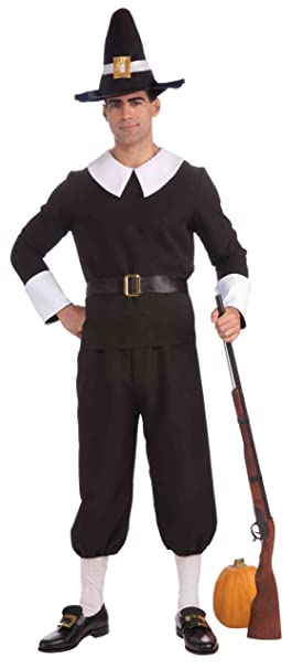 Forum Novelties Plymouth Pilgrim Man Costume, Black, Standard