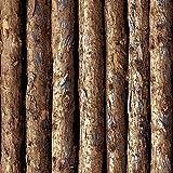 Mullsan Faux Wood wallpaper waterproof Gloss Vinyl Film Contact Paper Tree Trunks wall stickers 20.8''x79'' Roll